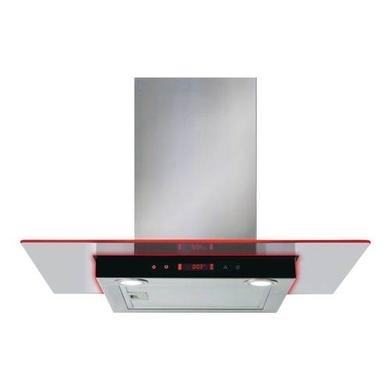 CDA EKN70SS 70cm Flat Glass Cooker Hood With Edge Lighting- Stainless Steel