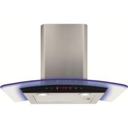 CDA EKP60SS 60cm Cooker Hood Stainless Steel With Curved Glass Canopy