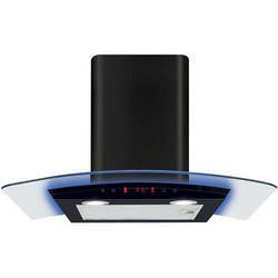 CDA EKP70BL 70cm Cooker Hood Black With Curved Glass Canopy