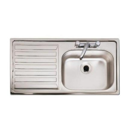 Astracast EL10XXHOMESK Eclipse Superdeep Single Bowl Left Hand Drainer Satin Steel Sink