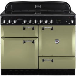 Rangemaster 101000 Elan 110cm Electric Range Cooker With Ceramic Hob - Olive Green