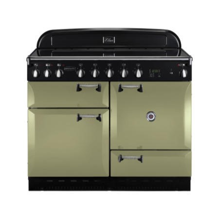 Rangemaster 101010 Elan 110cm Electric Range Cooker With Induction Hob - Olive Green