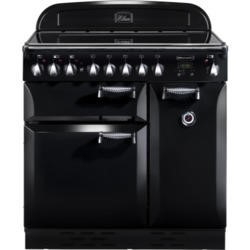Rangemaster 75200 Elan 90cm Electric Range Cooker With Ceramic Hob - Black
