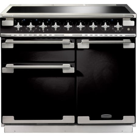 Rangemaster ELS100EIGB 100160 Elise 100 Electric Range Cooker With Induction Hob In Gloss Black