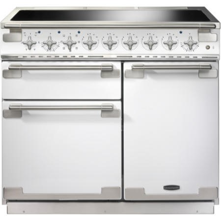 Rangemaster ELS100EIWH 100210 Elise 100 Electric Range Cooker With Induction Hob In White