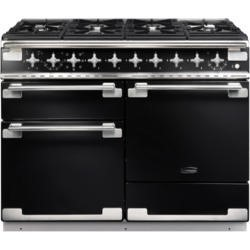 Rangemaster 94200 Elise 110cm Dual Fuel Range Cooker In Gloss Black