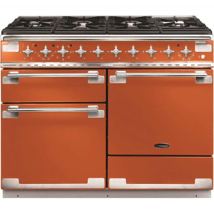 rangemaster 10560 elise 110cm dual fuel range cooker in orange els110dffor appliances direct. Black Bedroom Furniture Sets. Home Design Ideas