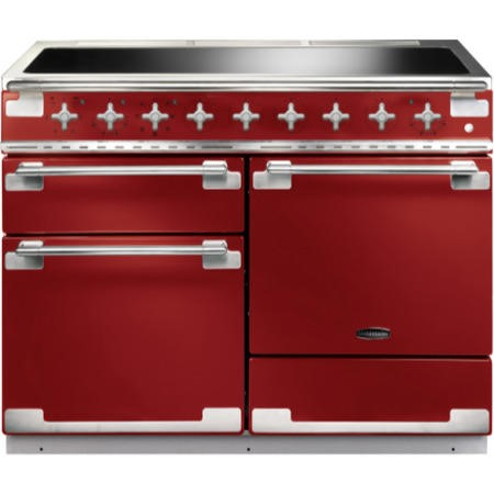 Rangemaster ELS110EIRD 100380 Elise 110 Electric Range Cooker With Induction Hob In Cherry Red