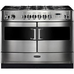 Rangemaster 82030 Elite SE 110cm Dual Fuel Range Cooker With Matte Pan Stands - Stainless Steel