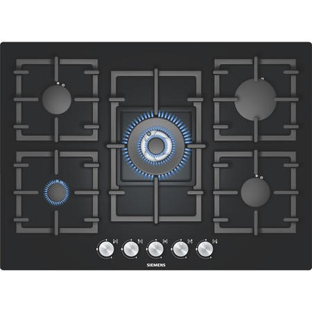 SIEMENS EP716QB91E iQ300 Five Burner 70cm Wide Gas-on -glass Hob - Black Glass