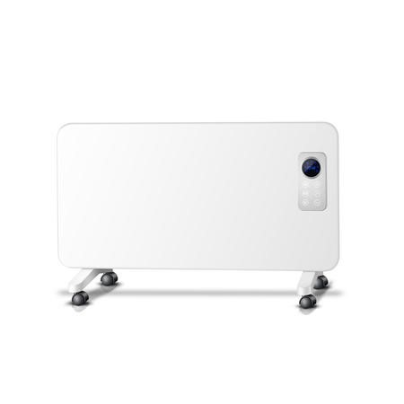 GRADE A1 - electriq 1000W Slim Wall Mountable Panel Heater with Digital Thermostat and Weekly Time - IP24 Bathroom Safe