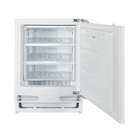 GRADE A1 - electriQ 60cm Wide Integrated Upright Under Counter Freezer - White
