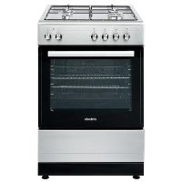 electriQ 60cm Single Oven Dual Fuel Cooker - Stainless Steel