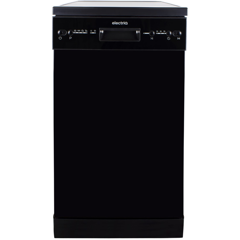 Electriq 10 Place Slimline Freestanding Dishwasher Black