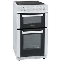 electriQ 50cm Electric Twin Cavity Cooker With Ceramic Hob - White Best Price, Cheapest Prices