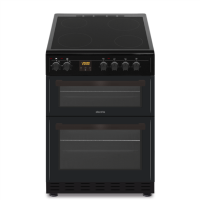 electriQ 60cm Twin Cavity Electric Cooker with Ceramic Hob - Black Best Price, Cheapest Prices