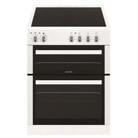 electriQ 60cm Twin Cavity Electric Cooker with Ceramic Hob in White Best Price, Cheapest Prices