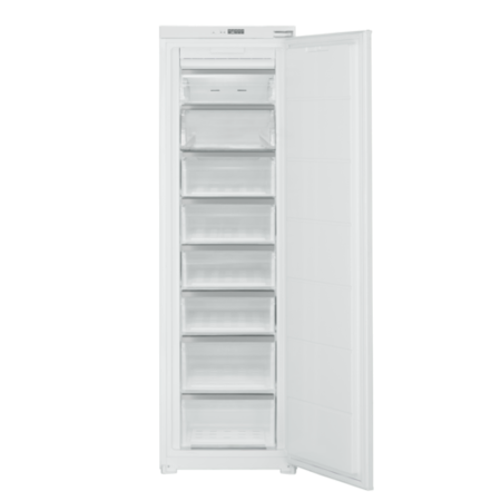 electriQ 54cm Wide Frost Free Integrated Upright Freezer - White