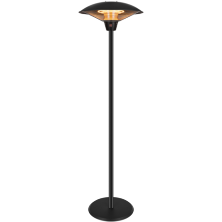 electriQ Mushroom Style Electric Infrared Patio Heater - Black