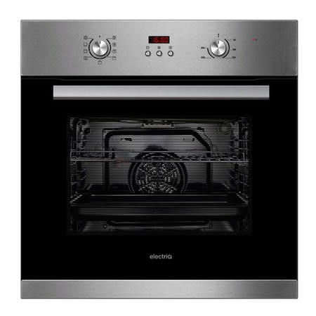 electriQ 65 litre 9 Function Full Fan Electric Single Oven Stainless Steel - Supplied with a plug