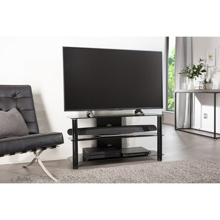 "Alphason ESS1000/3-BLK Essentials Black TV Stand for up to 45"" TVs"
