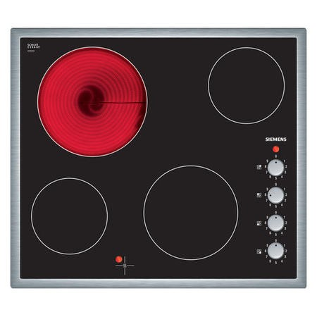 Siemens ET645CE17E 60cm Four Zone Ceramic Hob With Stainless Steel Frame