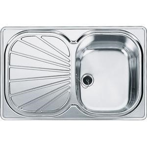Franke EUX611-78 Erica Single Bowl Reversible Stainless Steel Sink