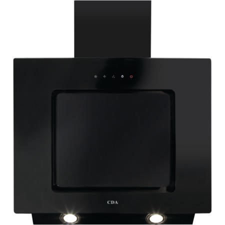 CDA EVA60BL 60cm Touch Control Angled Cooker Hood Black