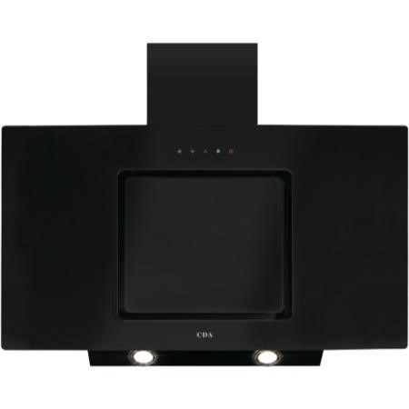 CDA EVA90BL 90cm Touch Control Angled Chimney Cooker Hood Black