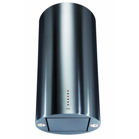 CDA EVCK4SS 40cm Cylinder Island Cooker Hood Stainless Steel