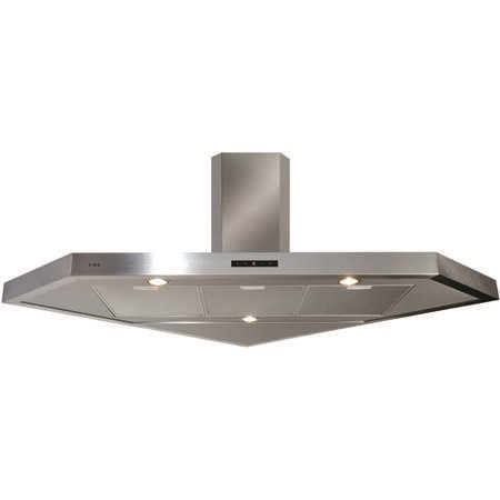 GRADE A3 - CDA EVPC9SS Corner 100cm Chimney Cooker Hood Stainless Steel To Coordinate With Hobs Up To 90cm Wide