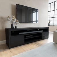 Large Black Gloss TV Unit - TV's up to 70