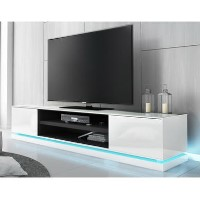 EvoqueLarge White High Gloss TV Unit withLED Lighting
