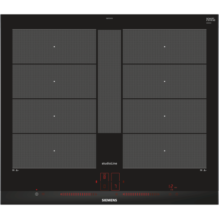 siemens ex677lyc1e studioline touch control four zone induction hob black with 2 flexinduction. Black Bedroom Furniture Sets. Home Design Ideas