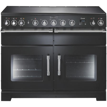 Rangemaster 97430 Excel 110cm Electric Range Cooker With Induction Hob - Black