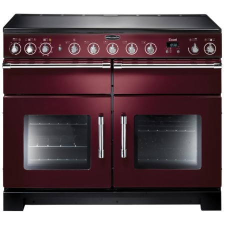 Rangemaster EXL110EICYC Excel 110cm Electric Range Cooker With Induction Hob Cranberry