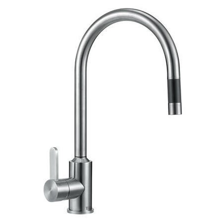 GRADE A1 - Taylor & Moore Eden Single Lever Stainless Steel Tap with Pull out Spray