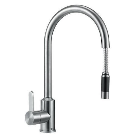 GRADE A2 - Taylor & Moore Eden Single Lever Stainless Steel Tap with Pull out Spray