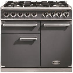 Falcon 10218 - 1000 Deluxe Dual Fuel Range Cooker - Slate - Gloss Pan Stands