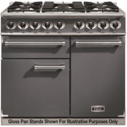 Falcon 10220 - 1000 Deluxe Dual Fuel Range Cooker - Slate - Matt Pan Stands
