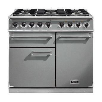 F1000DXDFSSCM Falcon 98590 1000 Deluxe Dual Fuel Range Cooker - Stainless Steel - Matt Pan Stands