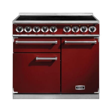 Falcon 100140 - 1000 Deluxe 100cm Electric Range Cooker With Induction Hob - Cherry Red