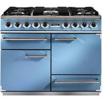 Falcon 80610 - 1092 Deluxe 110cm Dual Fuel Range Cooker - China Blue And Nickel - Matt Pan Stands
