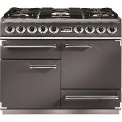 Falcon 10222 - 1092 Deluxe 110cm Dual Fuel Range Cooker - Slate - Gloss Pan Stands