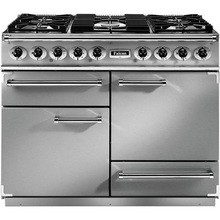 Falcon 76870 - 1092 Deluxe 110cm Dual Fuel Range Cooker - Stainless Steel Chrome - Matt Pan Stands