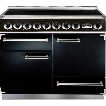 Falcon 81860 - 1092 Deluxe 110cm Electric Range Cooker With Induction Hob - Black And Chrome