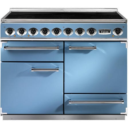 Falcon 81910 - 1092 Deluxe 110cm Electric Range Cooker With Induction Hob - China Blue And Nickel