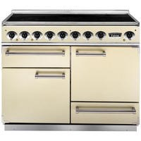 Falcon 81880 - 1092 Deluxe 110cm Electric Range Cooker With Induction Hob - Cream And Chrome