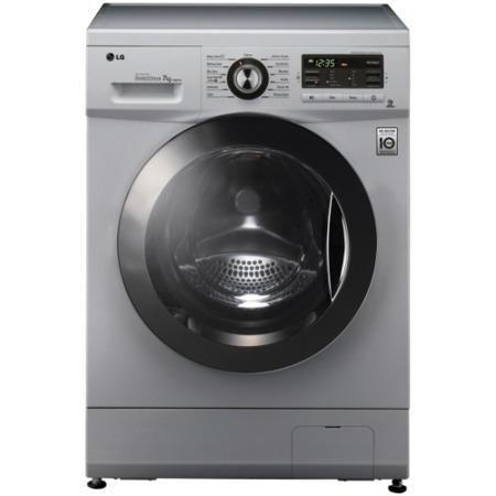 lg f1296tda5 6 motion direct drive 8kg 1200rpm silver freestanding washing machine appliances. Black Bedroom Furniture Sets. Home Design Ideas