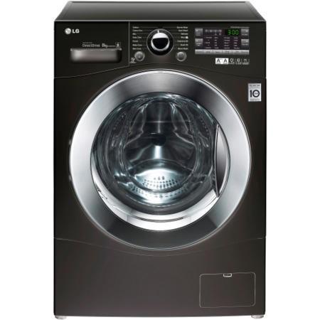 lg f12a8tda6 6motion direct drive 8kg 1200rpm freestanding washing machine black appliances. Black Bedroom Furniture Sets. Home Design Ideas